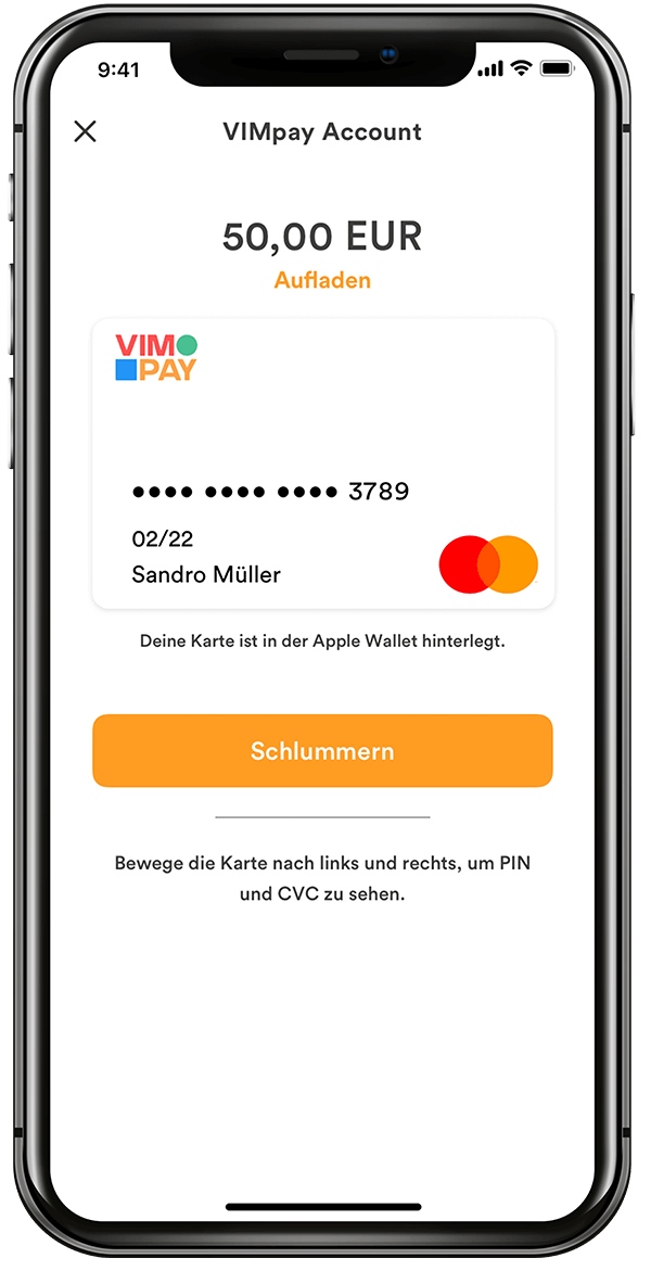 VIMpay Card View Iphone