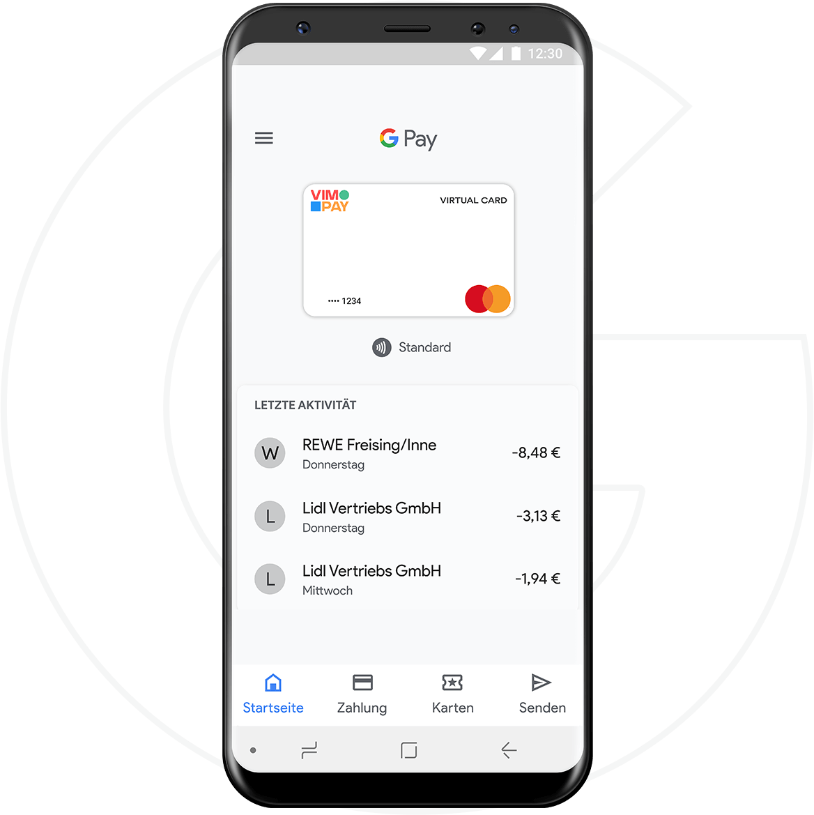 vimpay googlepay wallet android weiß